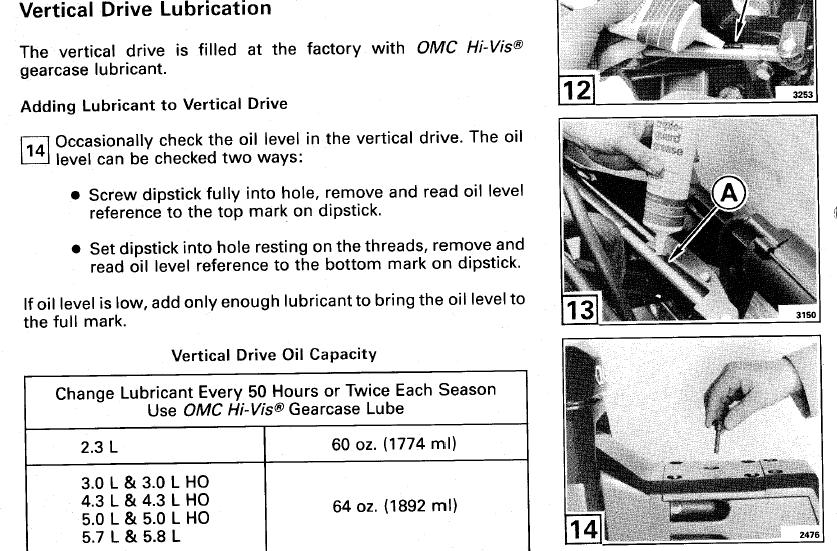 OMC Cobra 4.3L - Outdrive Oil Questions Page: 1 - iboats Boating Forums | 409209